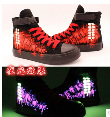 Tokyo Ghoul Kaneki Ken Luminous Canvas Shoes Cosplay costume school boots sport Graffiti shoes