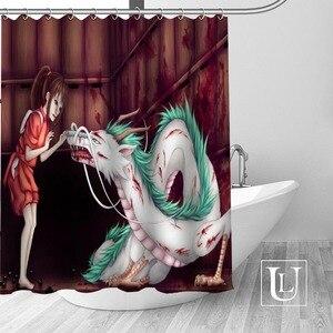 Image 4 - Bir yolculuk of Chihiro duş perdeleri özel banyo perdesi su geçirmez banyo kumaş Polyester duş perdesi 1 adet özel
