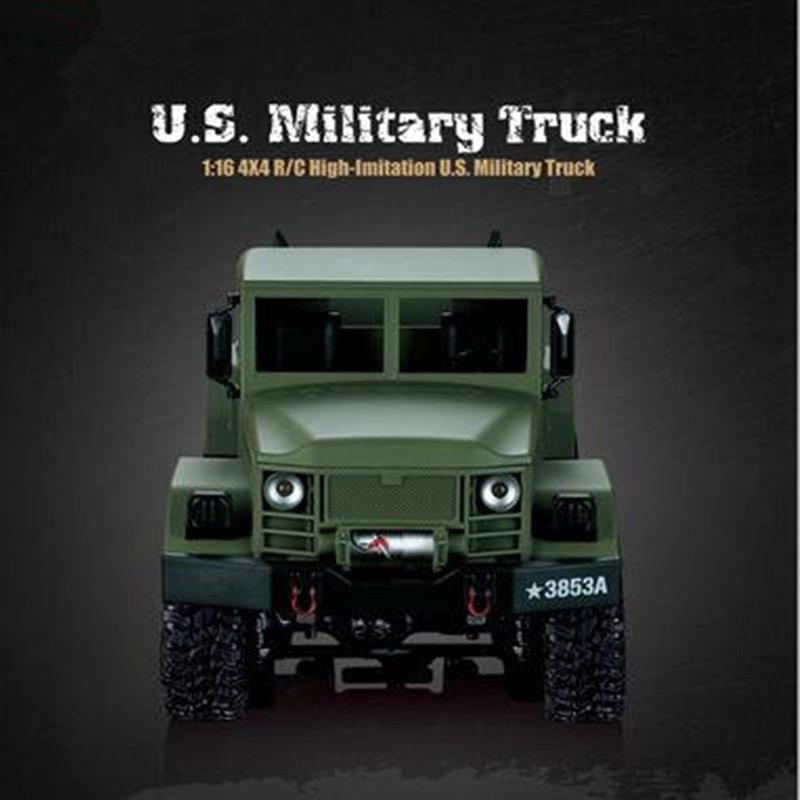 High-speed Remote Control Car 1:16 Simulation Military Truck Four Channels Electric Car Boy Toy RC RTR Car