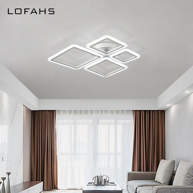 LOFAHS Moderne Acryl Led Deckenleuchte Überlappenden Rahmen Große Luxus  Deckenleuchte Für Wohnzimmer Esszimmer Schlafzimmer Glanz Avize