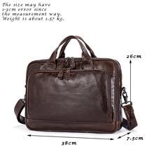 New men's leisure business briefcase, multifunctional men's handbags, Genuine leather men's bags laptop bag 8979