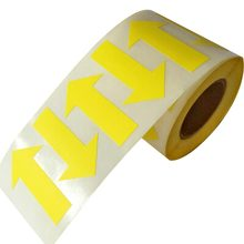 Arrow Stickers - Fluorescent Yellow Arrow Shape Color Coding Inventory Labels 500/roll 2 Inch X 1.25 Inch december fluorescent paper labels 500 labels roll 3 x 2