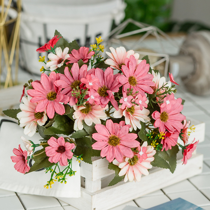 Pcs Artificial Rose Flowers Simulation Flannel Flowers Bouquet Flores Home Party Spring Wedding Decoration(China)
