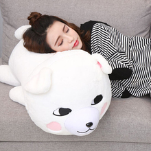 Fancytrader Cute Soft Samoyed Dog Pillow Doll Big Stuffed Animals Dogs Toys 76cmX35cmX36cm