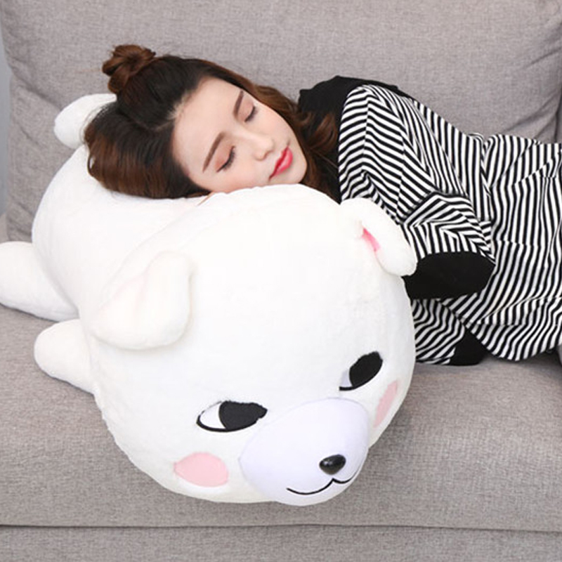 Fancytrader mignon doux Samoyed chien oreiller poupée gros animaux en peluche chiens jouets 76 cm X 35 cm X 36 cm