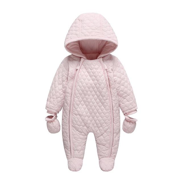 Macacão de bebê Recém-nascido Do Bebê Menina/meninos Snowsuit Pato Térmica Para Baixo de Inverno Bonito Do Bebê Com Capuz quente infantil Macacão de Bebê Menino roupas