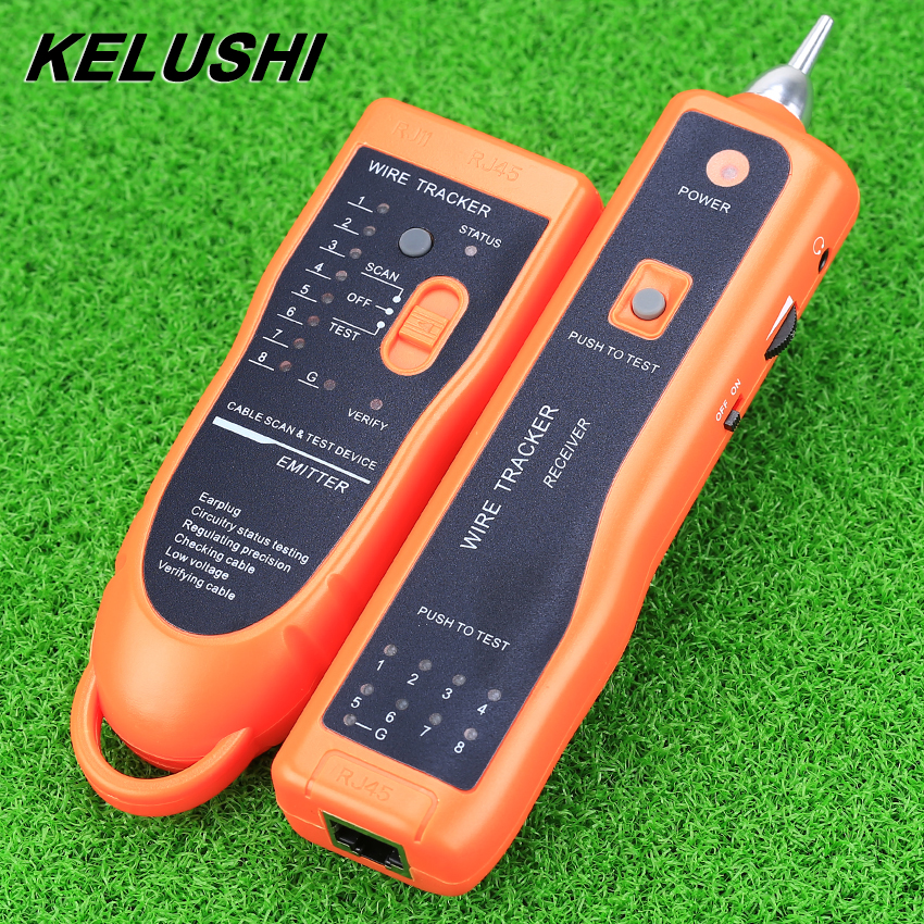 KELUSHI RJ45 RJ11 XQ-350 Ethernet Network Cable Tester Wire Tracker Cable Finders