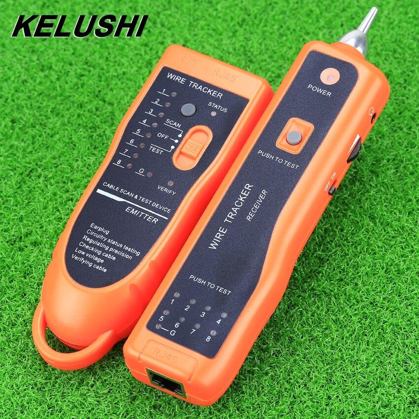Kelushi RJ45 RJ11 xq-350 Ethernet сетевой кабель тестер Провода Tracker кабеля Finders