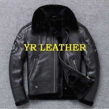 YR!Free shipping.Wholesales.Brand mans genuine leather jacke