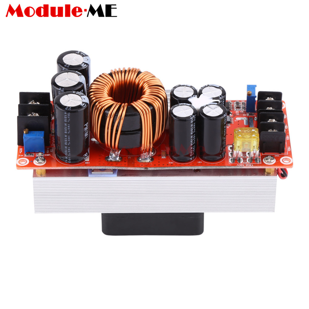 1500W 30A Step Up Module DC DC Power Boost Converter Constant Power Supply Module 10V 60V to 12V 90V LED Boost Module With Fan