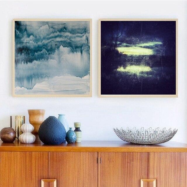 Paysage abstrait Imprimer Art Moderne Peinture Style Contemporain ...