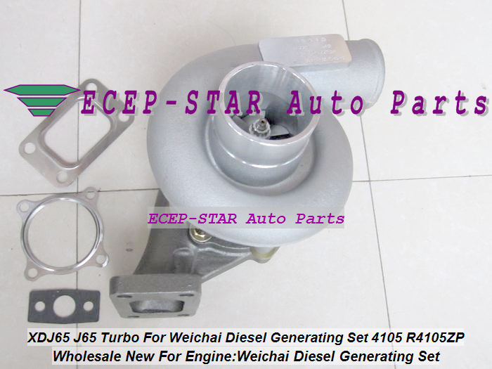 XDJ65 J65 Turbo Turbine Turbocharger For Weichai Diesel Generating Set Engine 4105 R4105ZP