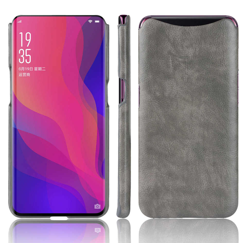 wholesale dealer f36c0 71455 For Oppo Find X Case Oppo Find X Lamborghini Retro PU Leather Litchi  pattern Skin Hard Cover For Oppo Find X Phone Fitted Case