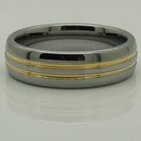 Halka boyutu us13.5/genişlik 8mm 2 ton altın kaplama hi-tech çizilmeye dayanıklı düğün tungsten yüzük