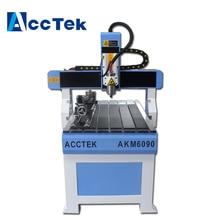 Acctek cheap cnc glass engraving machine 6090 acctek hot sale small cnc engraving machine 6012 cylinder engraving machine cnc router 6090