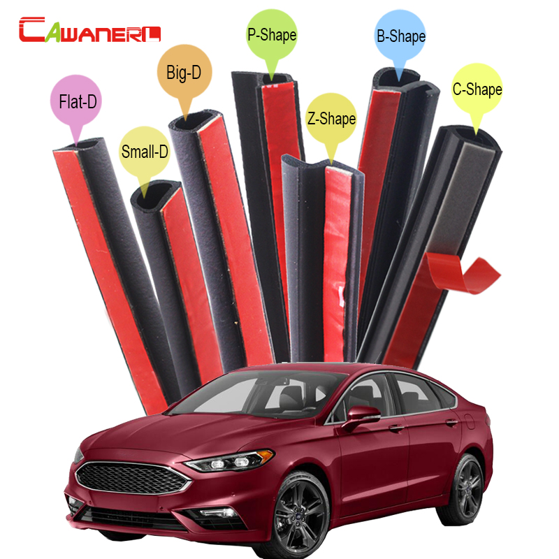 Cawanerl Whole Car Rubber Sealing Seal Strip Kit Weatherstrip Noise Control For Ford 500 Fusion Ka Taurus SHO Crown Victoria cawanerl car sealing strip kit weatherstrip rubber seal edging trim anti noise for nissan almera march micra note pixo platina