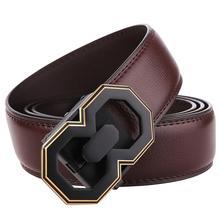 Men's Belts Luxury Automatic Buckle Genune Leather Waist Strap for Mens Belt Designers Brand Good Quality Black Belts