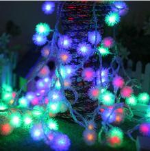 10M 100 LEDs 220V waterproof outdoor RGB LED string lights Christmas Light holiday wedding Birthday party decotation