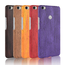 For Xiaomi Mi Max Case Hard PC+PU Leather Retro wood grain Phone Cover Luxury Wood for