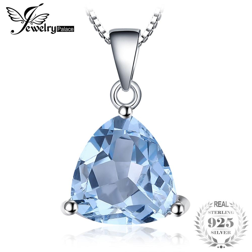 Blue Fire Opal Ocean Blue Topaz Gems 925 Sterling Silver Plated Necklace Pendant