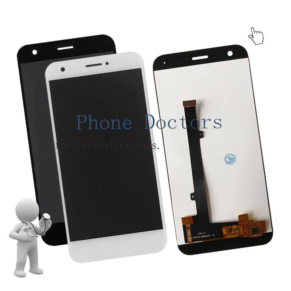 5.2'' Full LCD DIsplay + Touch Screen Digitizer Assembly For ZTE Blade A512 Z10 ; Black / White ; New ; 100% Tested ; Tracking