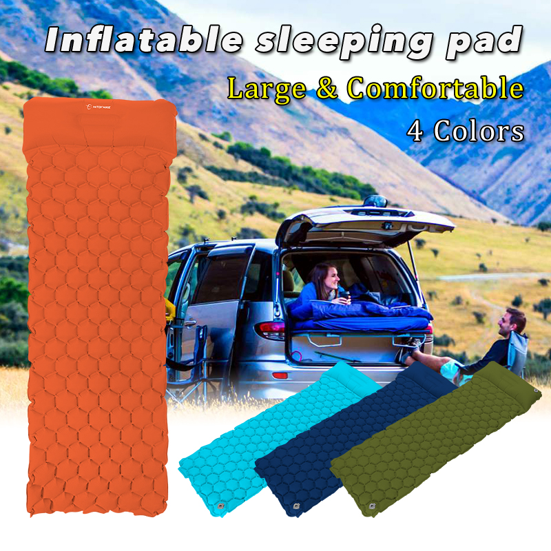 Air Mattress Inflatable Bed for Tent Portable Ultralight Sleeping Pad Air Bed Moistureproof Pad Waterproof Outdoor Camping Mat durable thicken pvc car travel inflatable bed automotive air mattress camping mat with air pump
