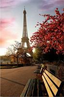 Free Shipping Custom Poster Nice Bedroom Decor Fashion WallSticker Well Design Paris Eiffel Tower Landscape City