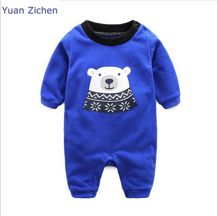 Baby Promotion Full O-neck Clothes Long Sleeve Romper Bear Cartoon 2017 New Spring And Autumn Boy Girl Newborns Jumper Clothing
