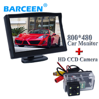 Hot selling original car rear camera use for reversing with 5 led car screen monitor 2 in 1 for Peugeot 307 Sedan