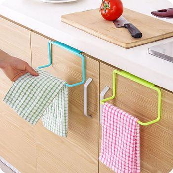 1 ud. Sobre la puerta, soporte para toallas de té, barra de suspensión de armario, gancho para baño, cocina, hogar, herramientas de cocina útiles