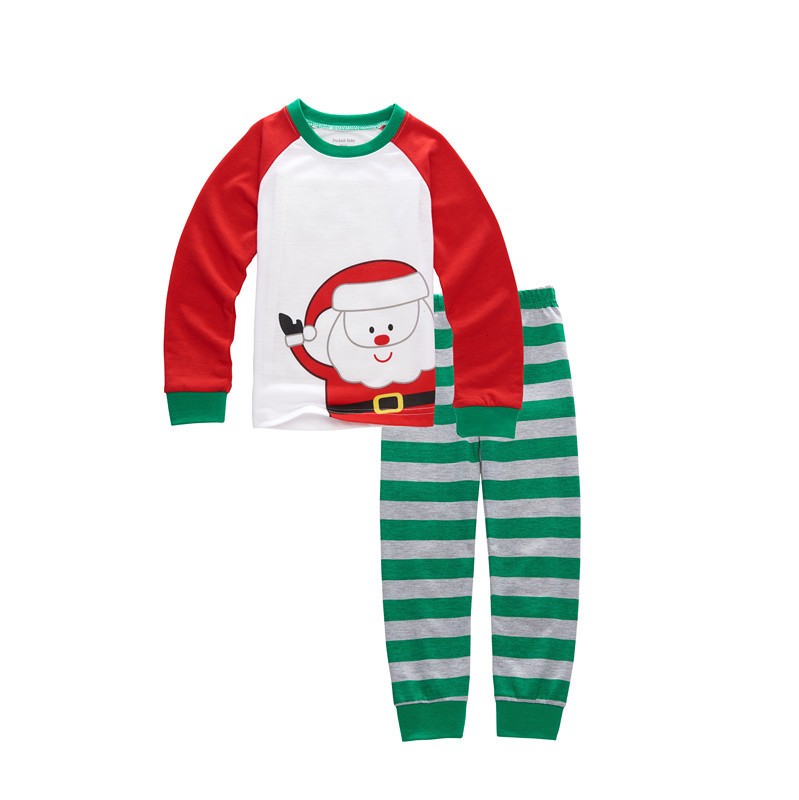46acb394c475 NEW Kids Long Sleeve Xmas PJS Cotton Pajamas Baby Boys Girls ...