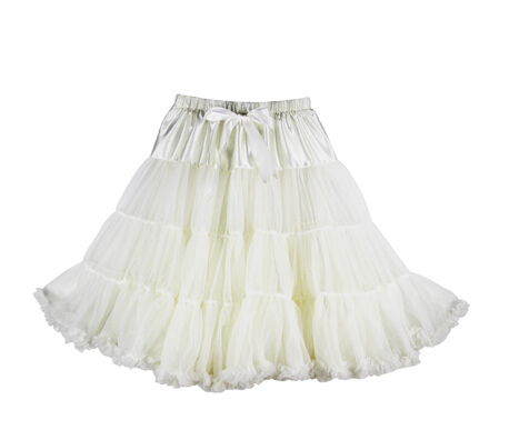 Евро ЗО, проверка, Нижняя юбка для женщин, шифоновая юбка-американка, юбка-пачка для взрослых, бальное платье, для танцев, летняя, 65 см, длинная юбка, сексуальная, однослойная - Цвет: ivory