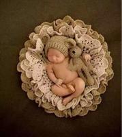 Pasgeboren Fotografie Rekwisieten Deken + Beer Hoed + Beer Rekwisieten Knit Hoeden Baby Foto Props Pasgeboren Fotografia Fotografie Accessoires