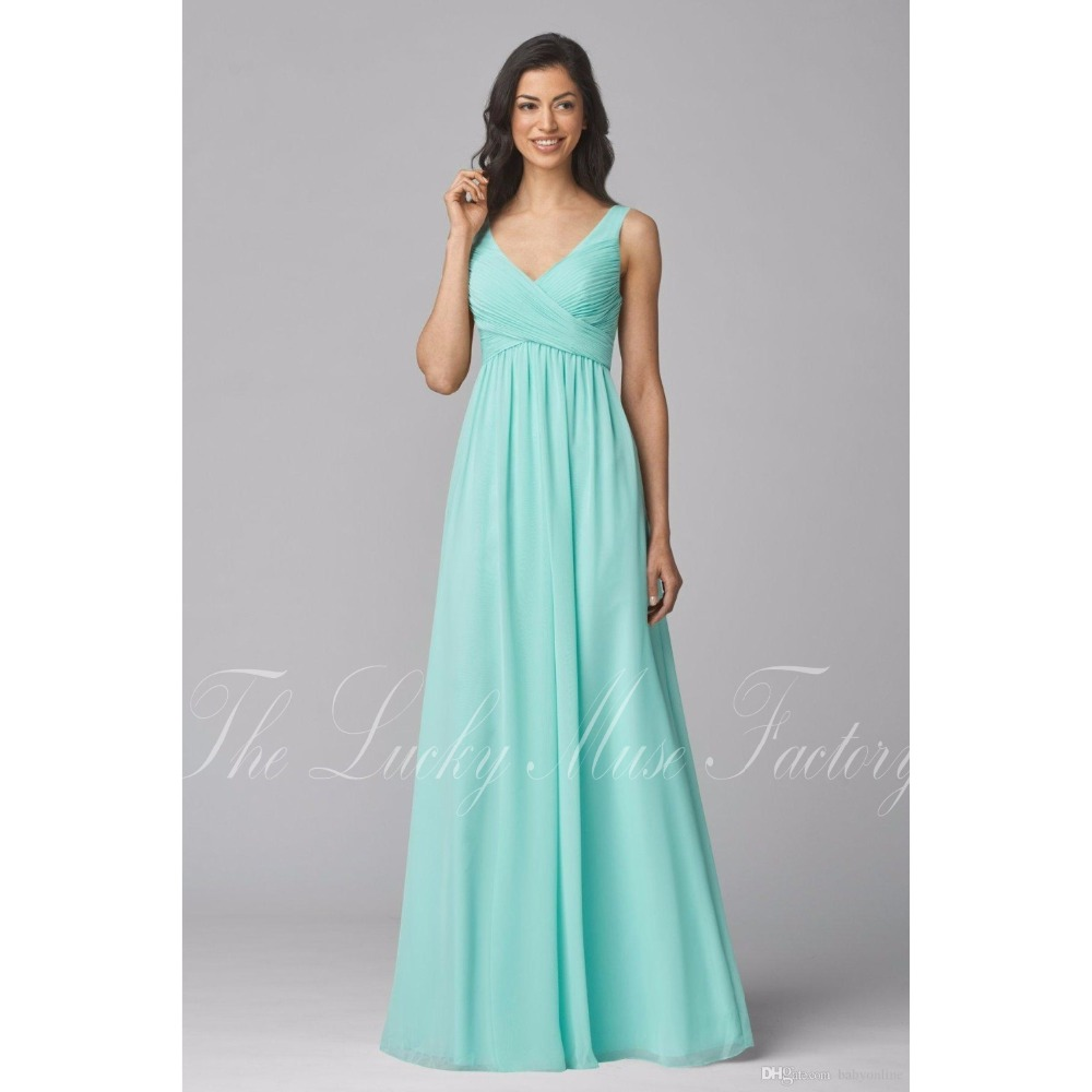 Westren Country Style Teal Mint Green Bridesmaid Dresses Summer ...