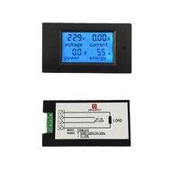 PEACEFAIR Sản Phẩm Mới Digital AC 80-260 V 20A 4IN1 điện áp điện hiện tại năng lượng Vôn Kế Ampe Kế Watt Power Meter với Chia CT