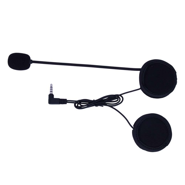 2PCS 3.5MM EJEAS V6 V6 Pro Accessories Earphone Speaker Microphone Clip Motorcycle Helmet Bluetooth Intercom Moto 2