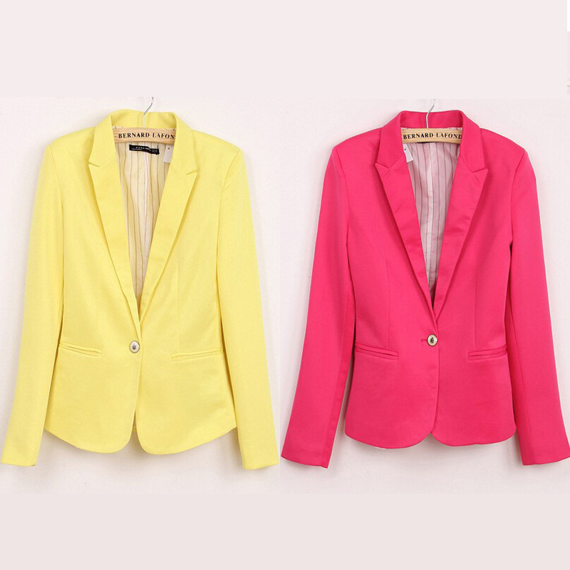 2016 New Casual Slim Women's Blazers With Striped Lined Women Single - Women's Clothing - Photo 3