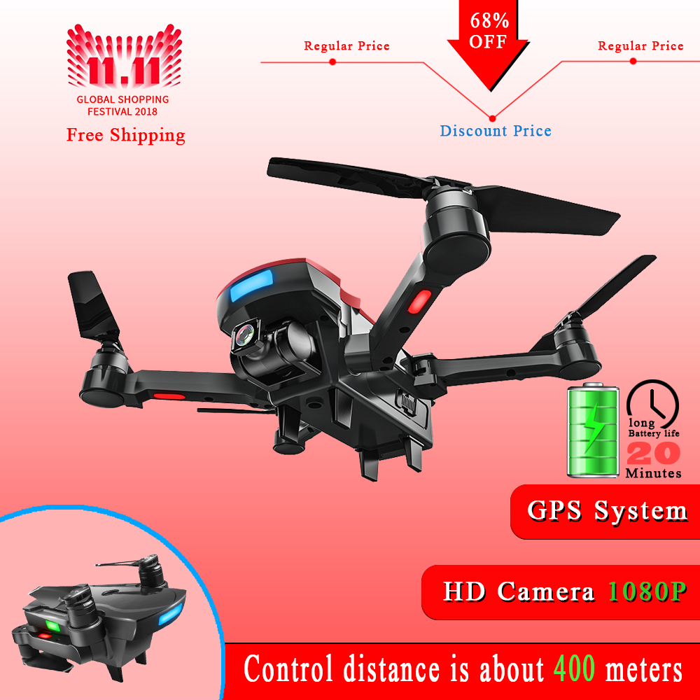 AOSENMA CG033 Drone Brushless Motor GPS RC Drone with 1080P HD Camera WiFi FPV Easy Fly 20mins RC Helicopter VS S70W Drone