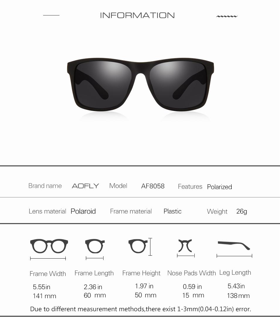 d36d7d963bc AOFLY BRAND DESIGN Night Vision Glasses Polarized Sunglasses Men Yellow  Anti Glare Vintage Driving Sun Glasses Goggles UV400. 8058 01 8058 02 ...