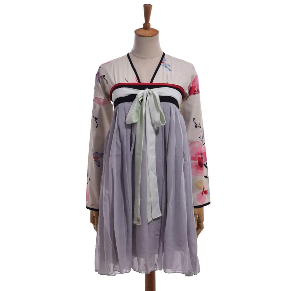 Chinese Hanfu Ruqun Women Lolita Long Sleeve Chiffon Dress Blouse Off Shoulder Wanita Charming Pink Fuchsia Xl Yutangchun Vintage Cosplay Costume