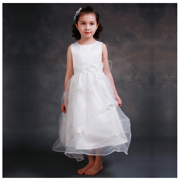 ELLIES BRIDAL Girls sleeveless seam Irregular flowers Wrinkle girls dressing pants 6-7Y ...