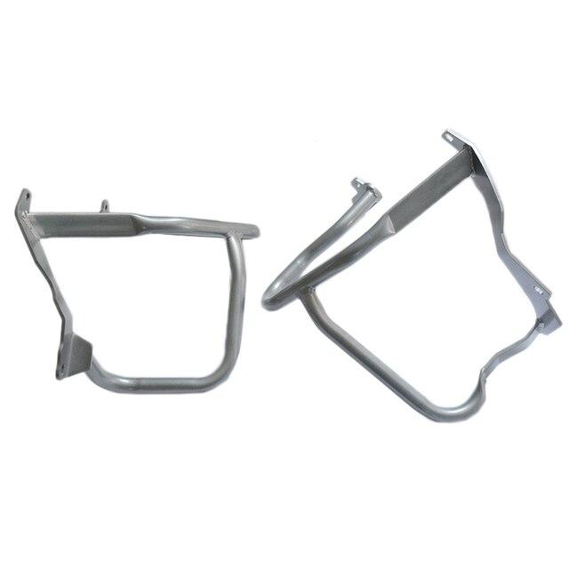 Protection pare-chocs de barre de protection pour BMW R1200RT | Protection avant, argent, pour moteur de moto 2014-2017 2016