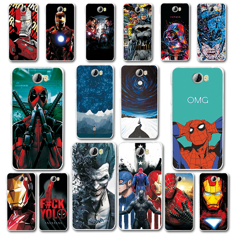 Phone Case Coque For Huawei Y5 II Cover Silicone Novelty Capa For Huawei Y5 II y5 2 5.0 inch Spiderman Cases Fundas Y5 ii