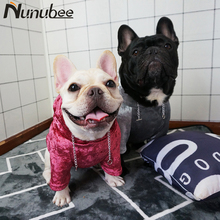 Nunubee Super Cool Pet Dog Clothes Winter ins Style hooded Dog Coat Jackets Cotton clothing for puppy dog french bulldog S-2XL
