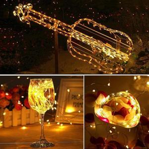 Image 2 - Bande lumineuse Led, guirlande lumineuse de 10m, avec piles AA, DC5V, CR2032, alimenté par USB, pour décoration de mariage, fêtes de noël et de nouvel an