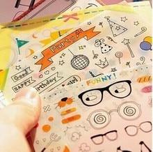 New DIY cute happy party Photo deco kawaii sticker/6 sheets per set/note sticker/Decoration label/WHOLESALE
