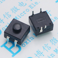 214 a flashlight button switch 2 on 1 off legs multi function button switch