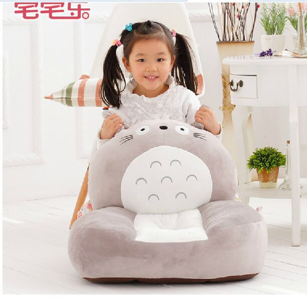 new gray plush totoro sofa toy creative totoro design stuffed sofa doll gift about 54x45cm 0356 free shipping about 60cm cartoon totoro plush toy dark grey totoro doll throw pillow christmas gift w4704