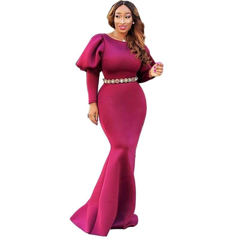 2018 Autumn Winter Plus Size Christmas Dress Women Long Sleeve Party Dresses Large Size ...