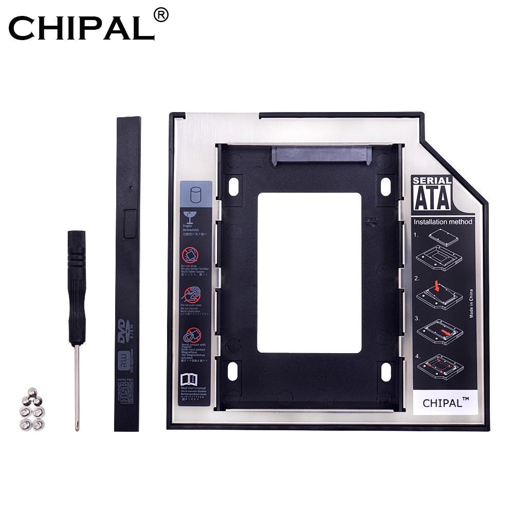CHIPAL Aluminum 2nd Second hdd Caddy 9.5mm SATA 3.0 Optibay 2.5'' SSD DVD CD-ROM Enclosure Adapter Hard Disk Drive Cases Box(China)